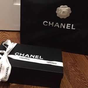 CHANEL Authentic/Original Shoe box, Bag, Ribbon